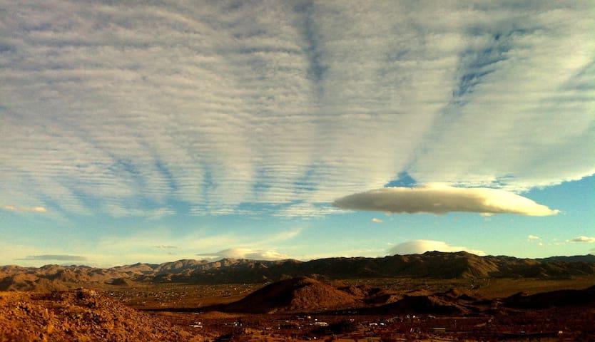 A winter sky.