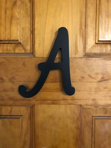 Look for the letter A upon arrival- it's your room!