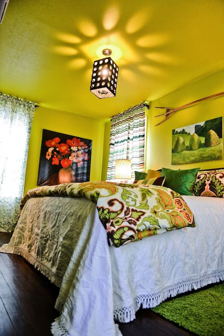 The King Size Bed in the Green Acres Bedroom