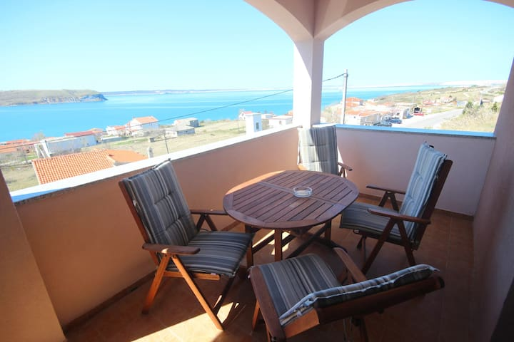 Njaco-2bedroom ap with Balcony and sea view(A3)