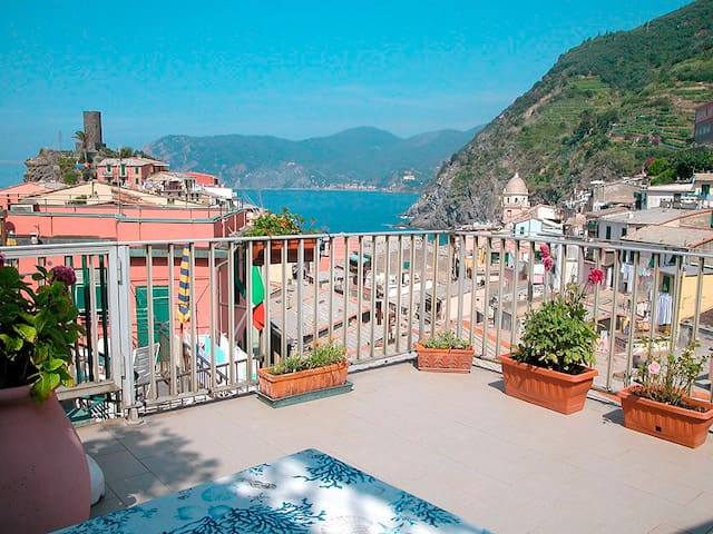 Double room with seaview terrace1 - Vernazza - Apartemen