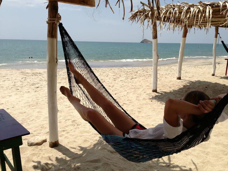One of our guests enjoying Santa Clara beach