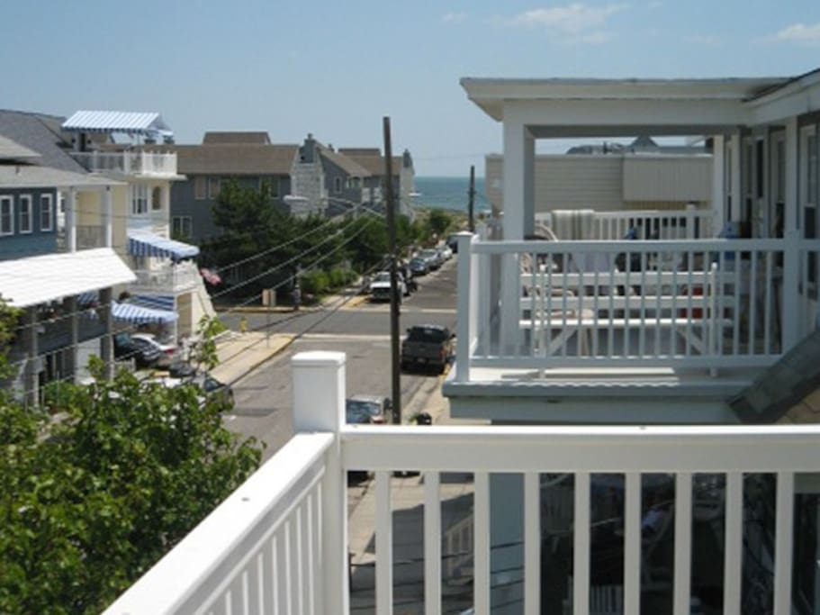 Your view from the front deck of the ocean just a block away.