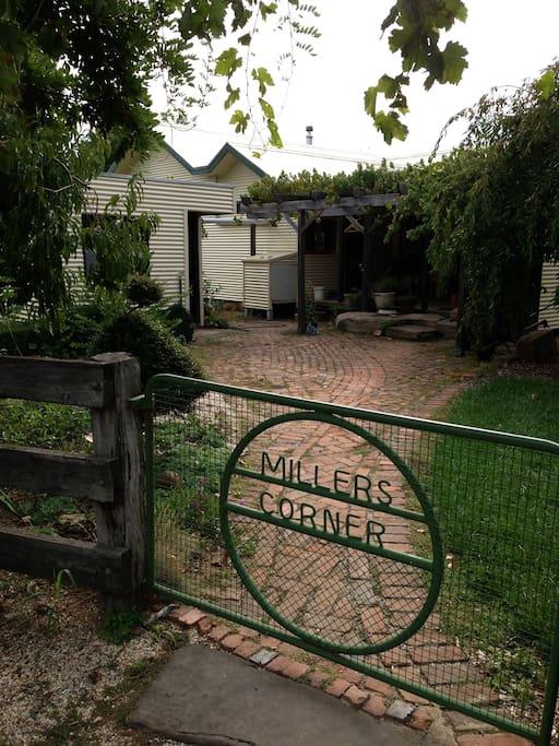 'Millers Corner' back gate