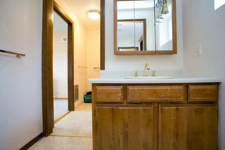 This room shares the master bathroom with the Empress Suite across the hallway.