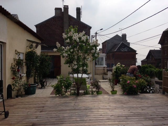 location maison terrasse face mer - Ault - House