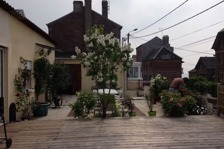 location maison terrasse face mer - Ault