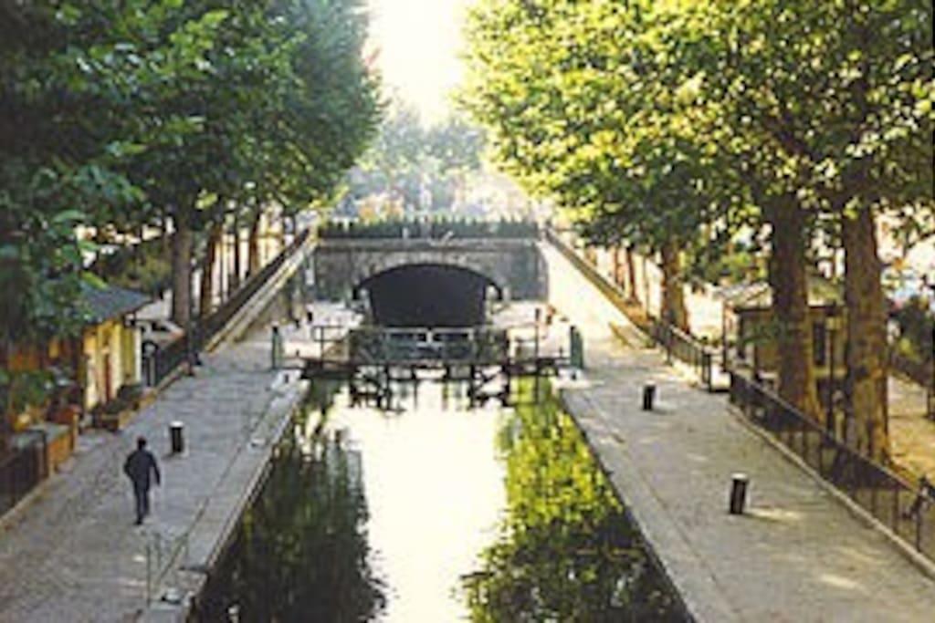 Canal Saint Martin à 2 pas...