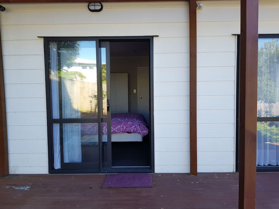 View from the side deck, private access to deck and garden