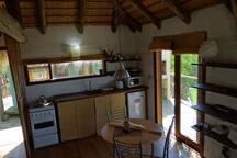 Kitchen area in Maracatú