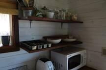 A corner of the kitchen in Maracatú