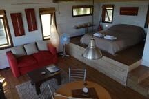 Maracatú cabin, taken from the kitchen area