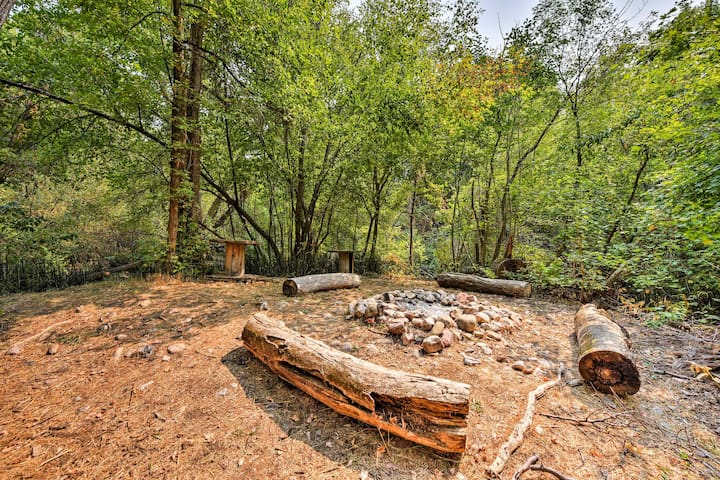 Nestled on 18 acres, this property boasts amazing outdoor amenities.