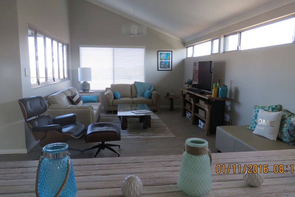 Large comfortable and well equipped lounge and sitting area.