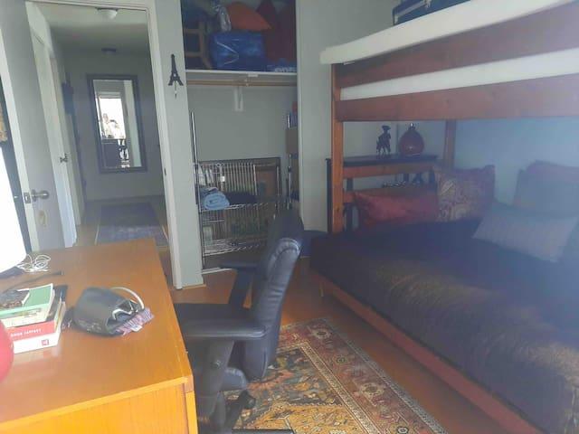 Second bedroom with generous closet