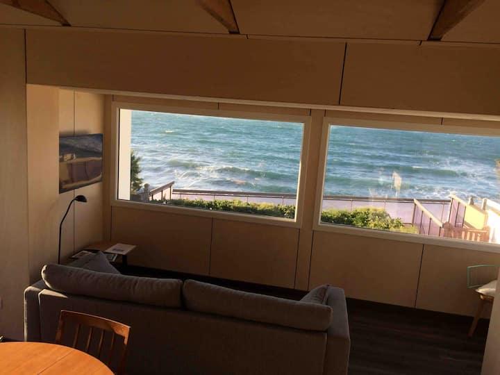 Maison 2 chambres,vue mer imprenable & accès plage