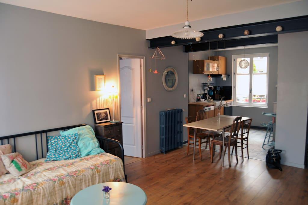 Bel appartement calme lumineux centre historique for Appartement atypique clermont ferrand