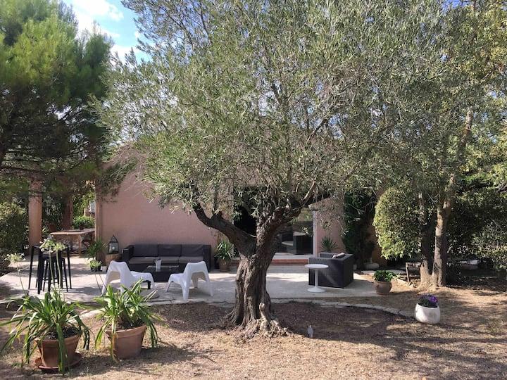 VILLA avec grand jardin CARCASSONNE park.GRATUIT