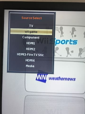 Set tv input to Wii game