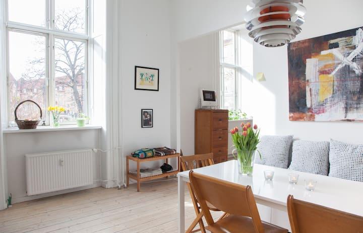 Sunny apartment in central Nørrebro