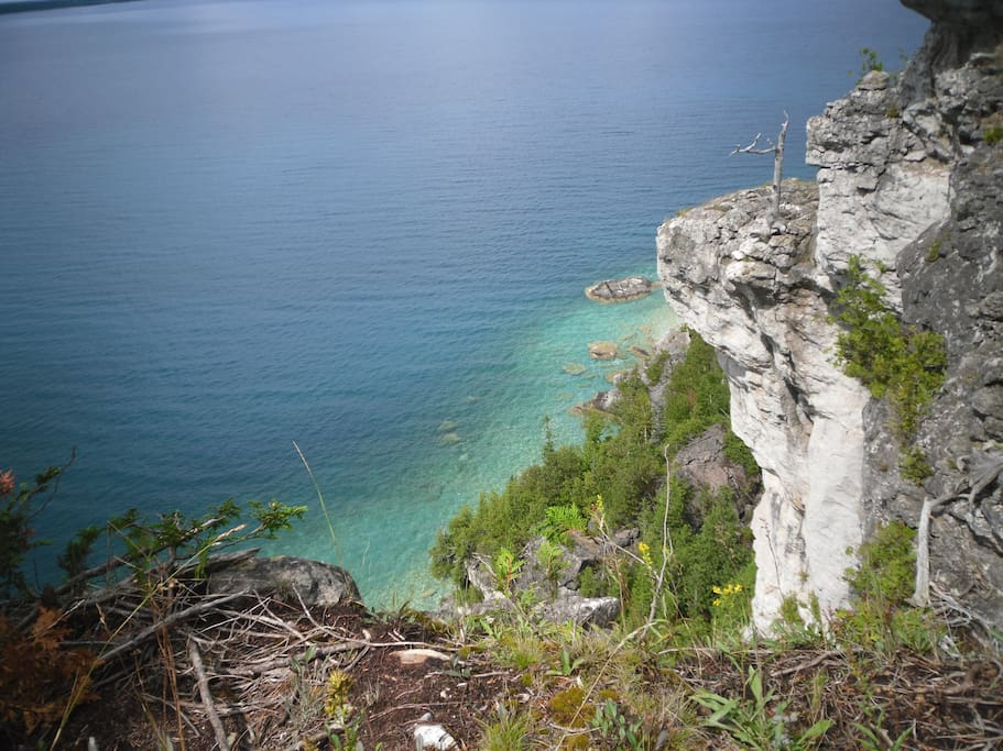 Georgian Bay and the Escarpment Cliffs near Lions Head