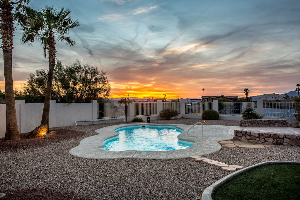 Evening view, great area to watch the beautiful Arizona sunsets