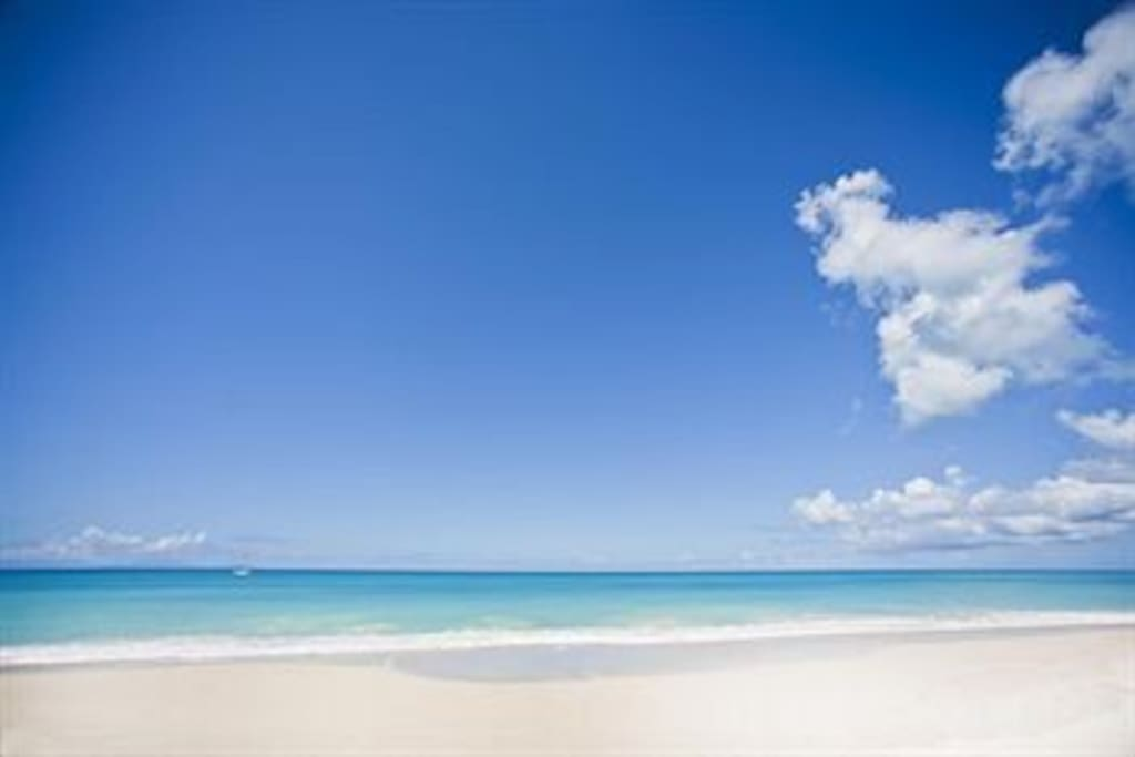 This is the view of Turner's beach on a clear sunny day. Bring the sun tan lotion and come....