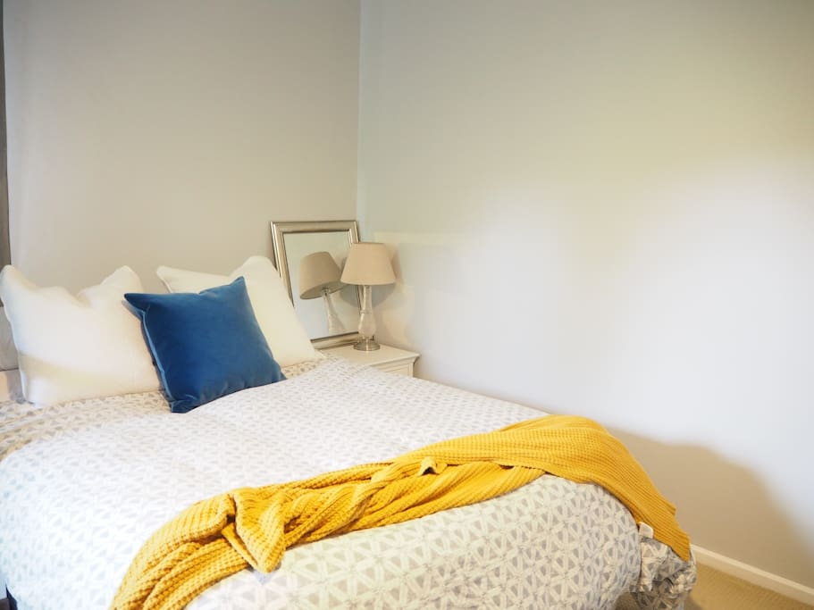 Comfortable beds with fresh, crisp linens