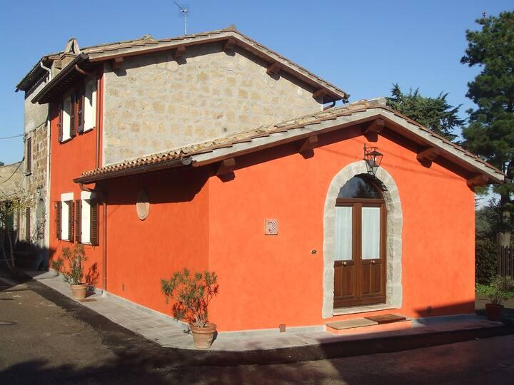 Red House/Casa Rossa near Civita di Bagnoregio