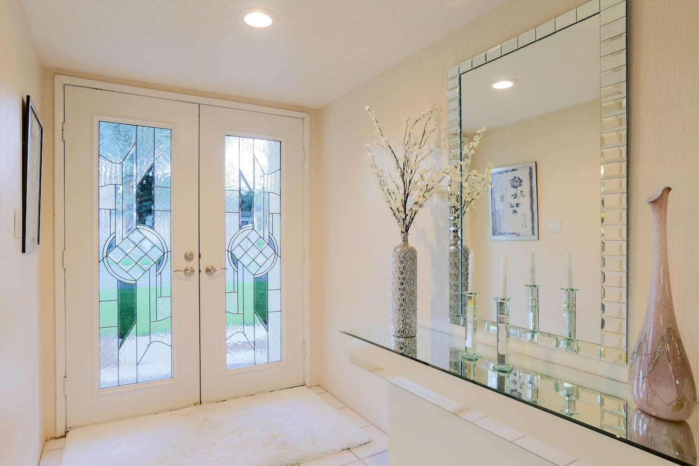 Elegant front entry and foyer.