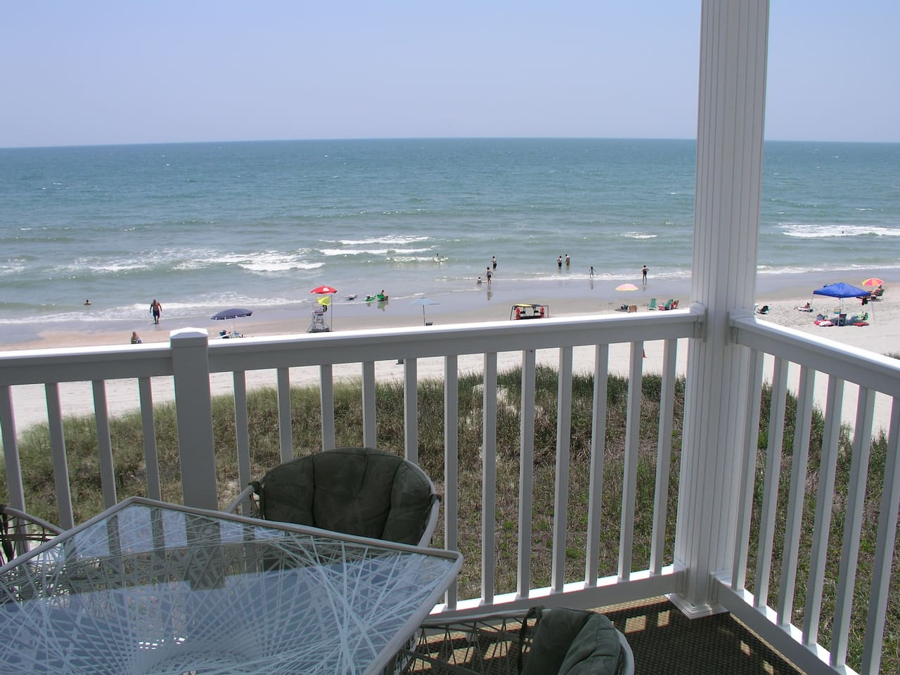 What a View!  Enjoy the ocean breeze while dining at the 4-person table on our huge balcony.