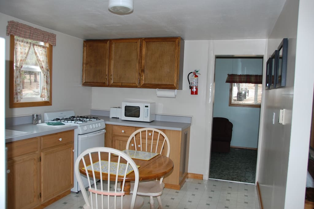 Nice kitchen with all appliances, dishes-just bring your food!