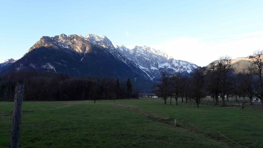 The view from your windows. Hoher Goll mountain in Bavaria.