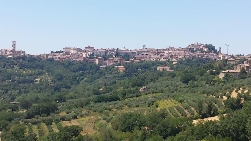 Vista su Perugia