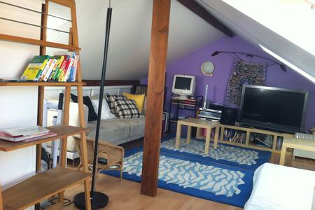 Loft sous toit avec douche privée - Le Vésinet - Huis