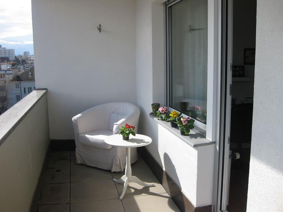 Private guest balcony
