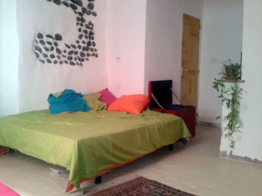 The room /  La chambre au 1er étage, lit 2 places