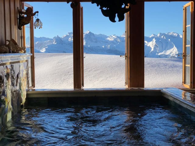 Dream Chalet with pool at Rigi's car-free paradise