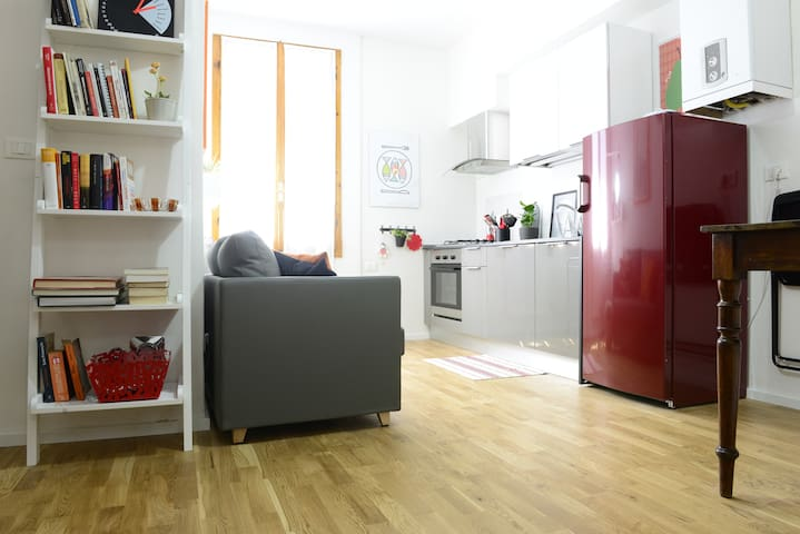 Comfortable accommodation in Pratello street - Bolonha - Apartamento