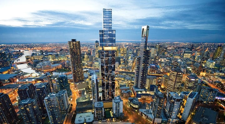 Deluxe 1 Bed 1 Bath in the Sky (Southbank)