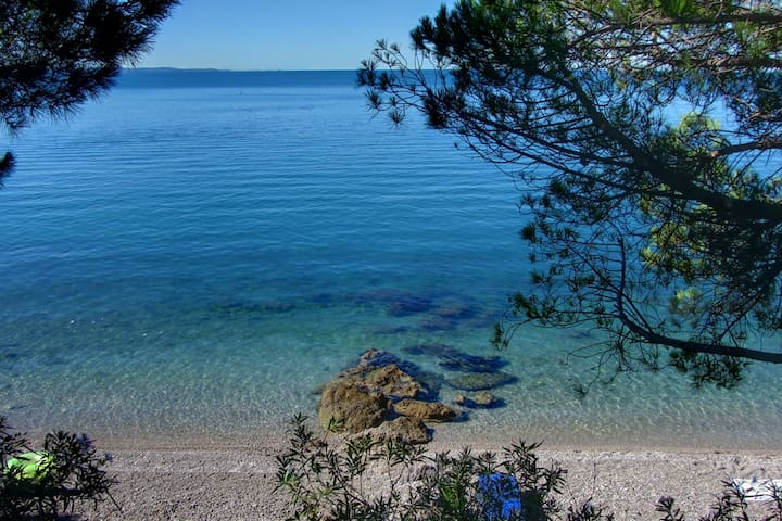 On the beach @ Ginestre Blu ap2 - Duino-Aurisina - Appartement