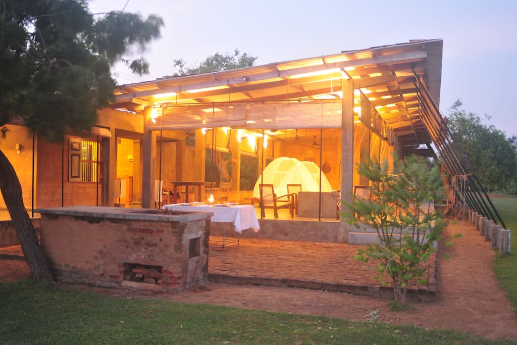 Lodge in the evening