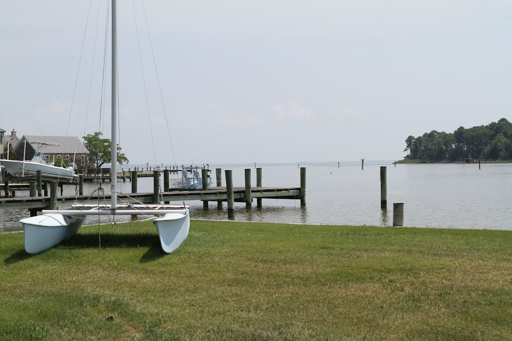 Front yard with Choptank River view