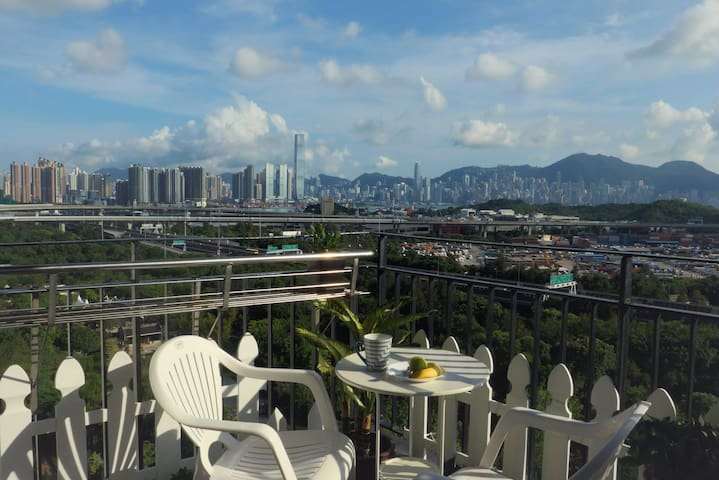 Room with 180° view in Traditional Home - Hong Kong - Apartament