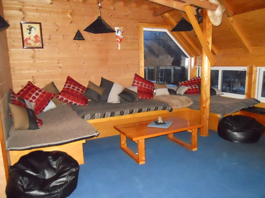 The chillout zone, great to relax here after a big day on the mountian