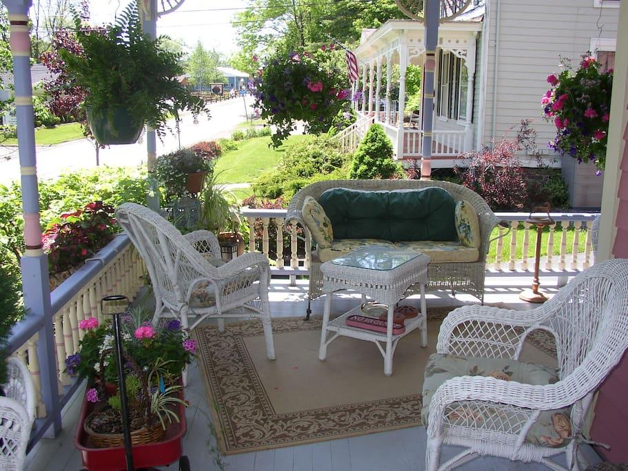 Relax on the wraparound porch