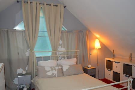 chambre calme lumineuse  de 20 m2 - Crevin - Guesthouse