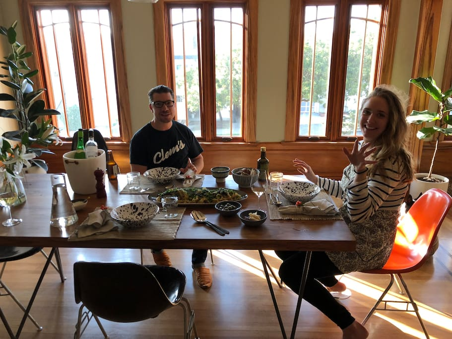 Guests enjoying lunch in our dining room.