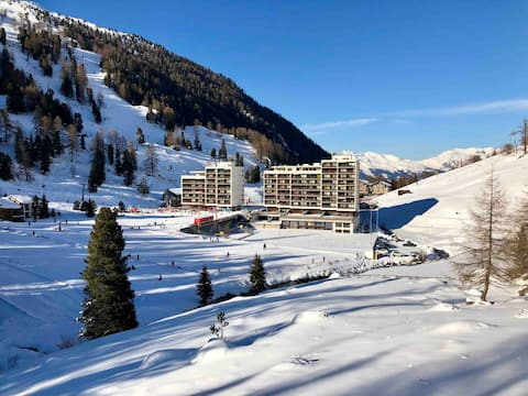 Siviez-4Vallées : studio au pied des pistes de ski
