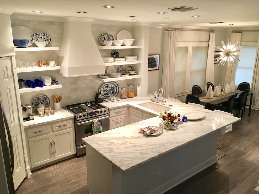 beautiful white marble kitchen